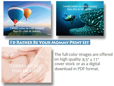 Id rather be your mommy print set