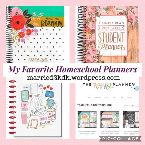 my favorite homeschool planner marriage motherhood makeup
